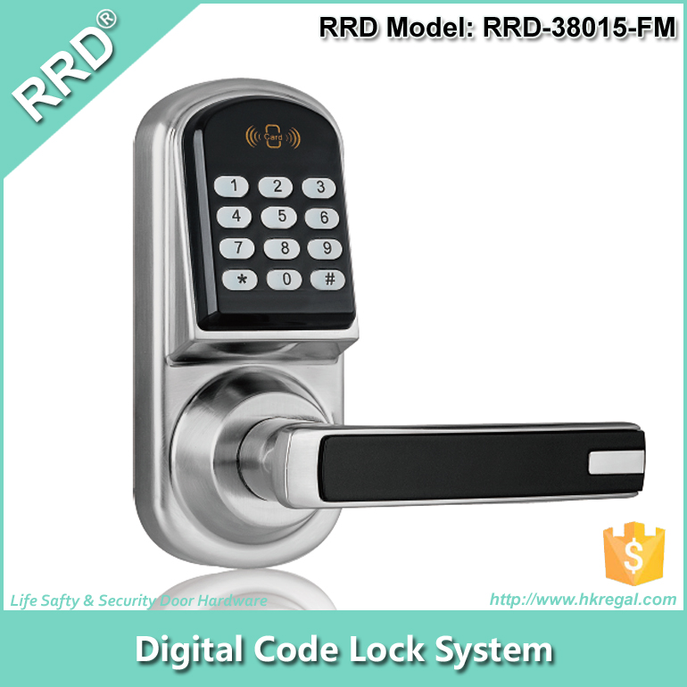 RRD - 38015FM Durable Digital Electronic Small Bolt Card Password Safe Lock