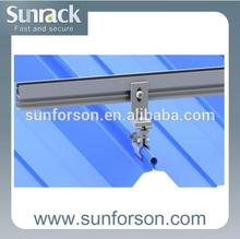 Residential Fixing/Standing Seam Clamp Steel Roof Solar Mounting