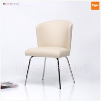 barcelona chair style leather dining chair