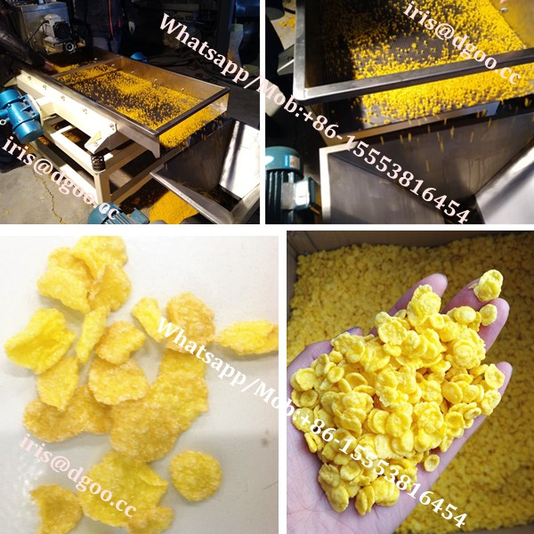 DG high capacity breakfast cereal food machine/corn flakes cereal extruder/breakfast corn