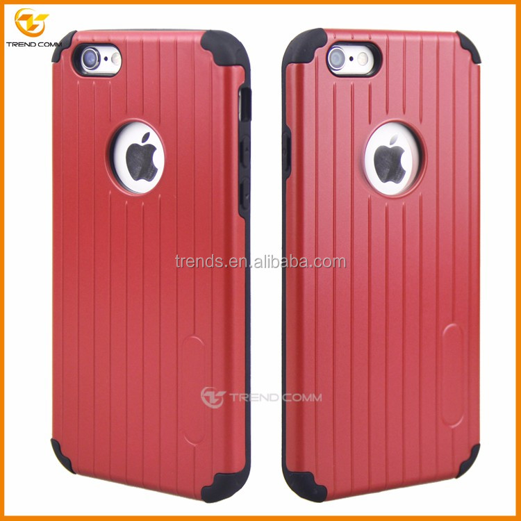 for iphone 6 plus double layer pc tpu cellular protective case