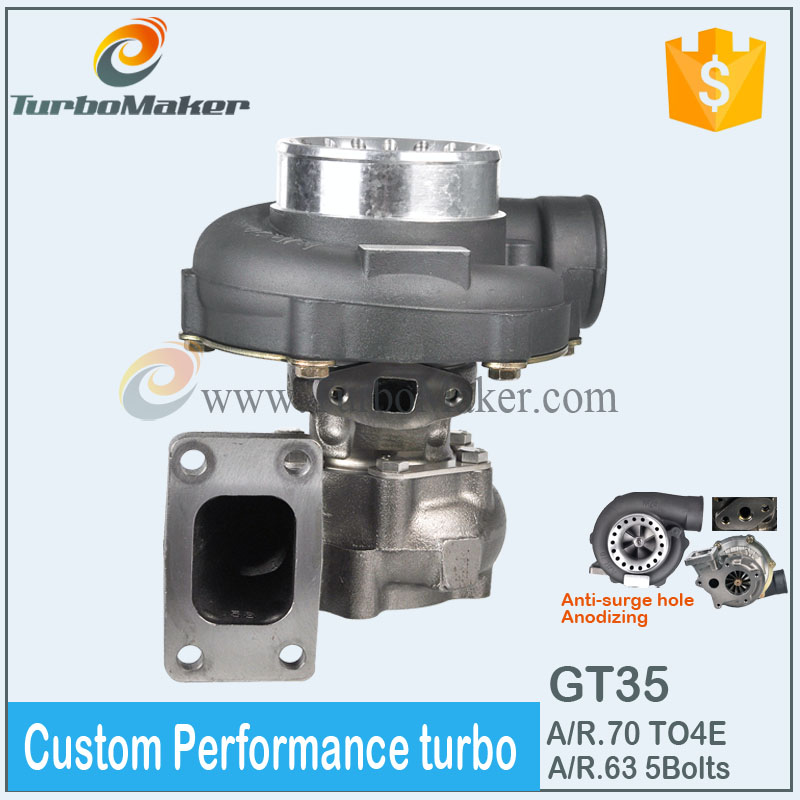 Manufacture Custom boost turbo charger GT35 A/R.70 A/R.63 TO4E