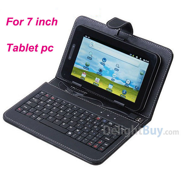 "Universal USB Keyboard Leather Cover Case Bag for 7"" Tablet PC MID PDA VIA 8650"