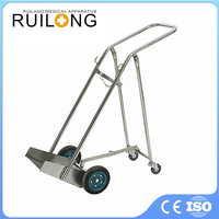 CE Quality Practical Hospital Medical Oxygen Bottle Trolley
