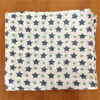 Factory high quality digital baby 100 % cotton printed fabric swaddle blanket muslin
