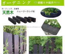 pine wood for garden decoration,wooden sleeper ,carbonized wooden sleeper