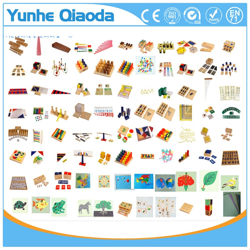 Kid Wooden toy montessori material from China factory
