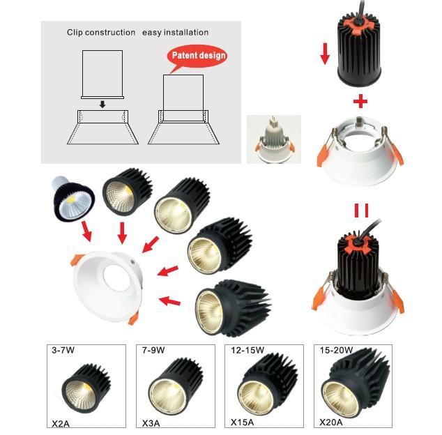 LED module downlight operation