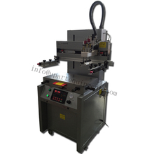 automatic flatbed label screen printing machine with uv curing machine