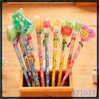 Free sample eco-friendly new products for kids wooden stationery set pencil shaped eraser