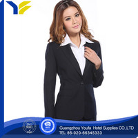anti-wrinkle new style polyester/cotton polyester cotton royal blue suits for women
