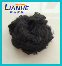 1.4-15D x 32-108mm super black recycled polyester staple fiber