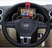 Made In China Best Universal Black And Red Car Steering Wheel Phone Holder for Mobile Cell Phone GPS Navigator