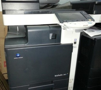 Konica Minolta Bizhub C360 Copier Printer Scanner Network Desktop