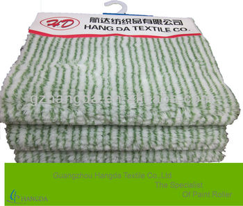 polyamide paint roller fabric white with double green stripe 850g/sqm-10mm