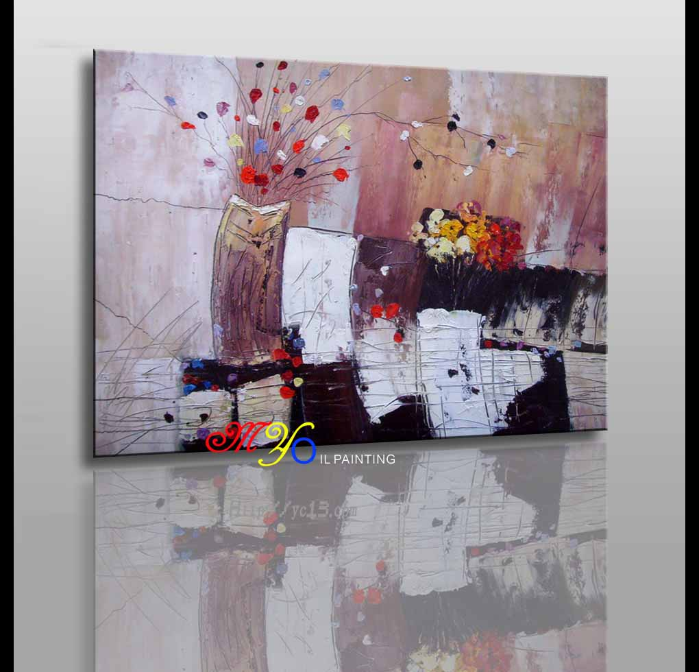 home decor and hotel decor artwork handpainting flower canvas ct-92