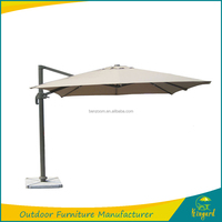 Aluminum Outdoor furniture big size sunshade garden umbrella