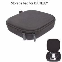 Joint Victory PU Leather Hand Bag Handheld Storage Bag Embedded Carrying Travel Case for DJI Tello Drone and Accessories