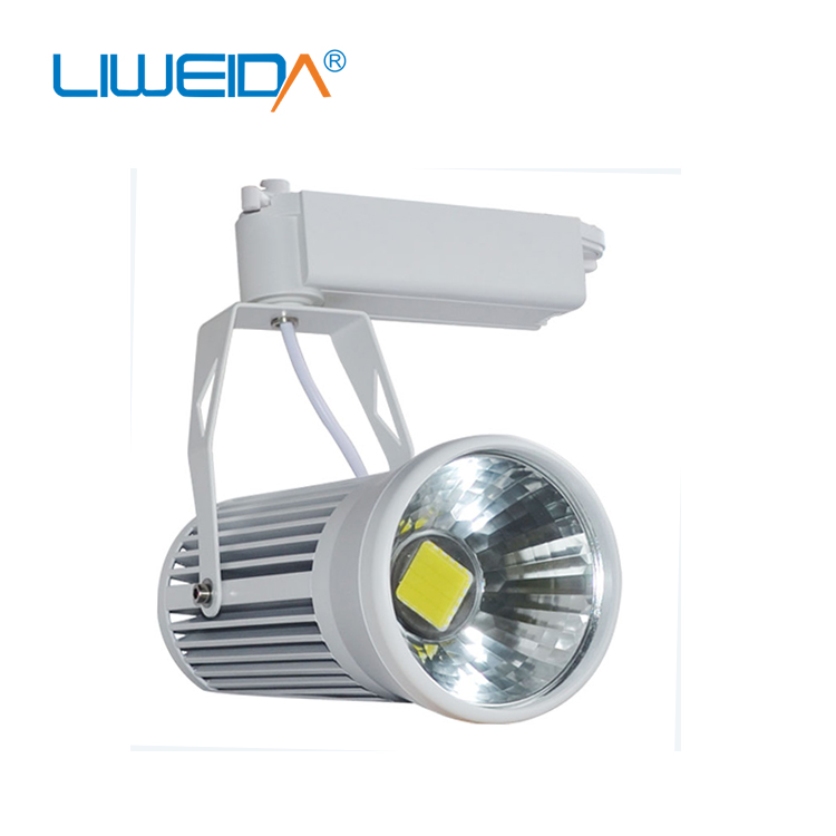 Modern adjustable magnetic aluminium housing dimmable <strong>rail</strong> 30w cob track lights led