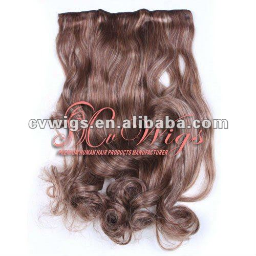 Factory price Brazilian 30 inch hair extensions clip in
