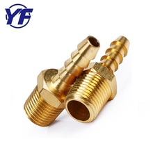 male and female brass pipe cnc customized threaded tube , copper reducer union