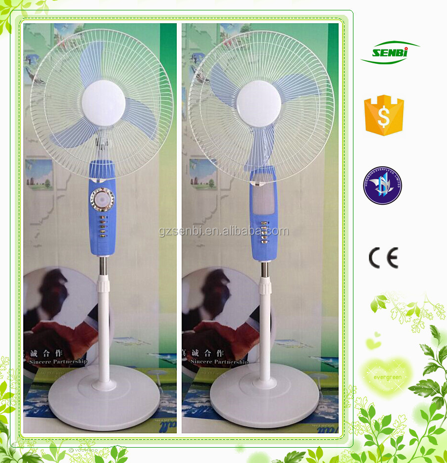 2016 new design Long-life operating energy saving 16/18inch battery fan led 12v rechargeable fan