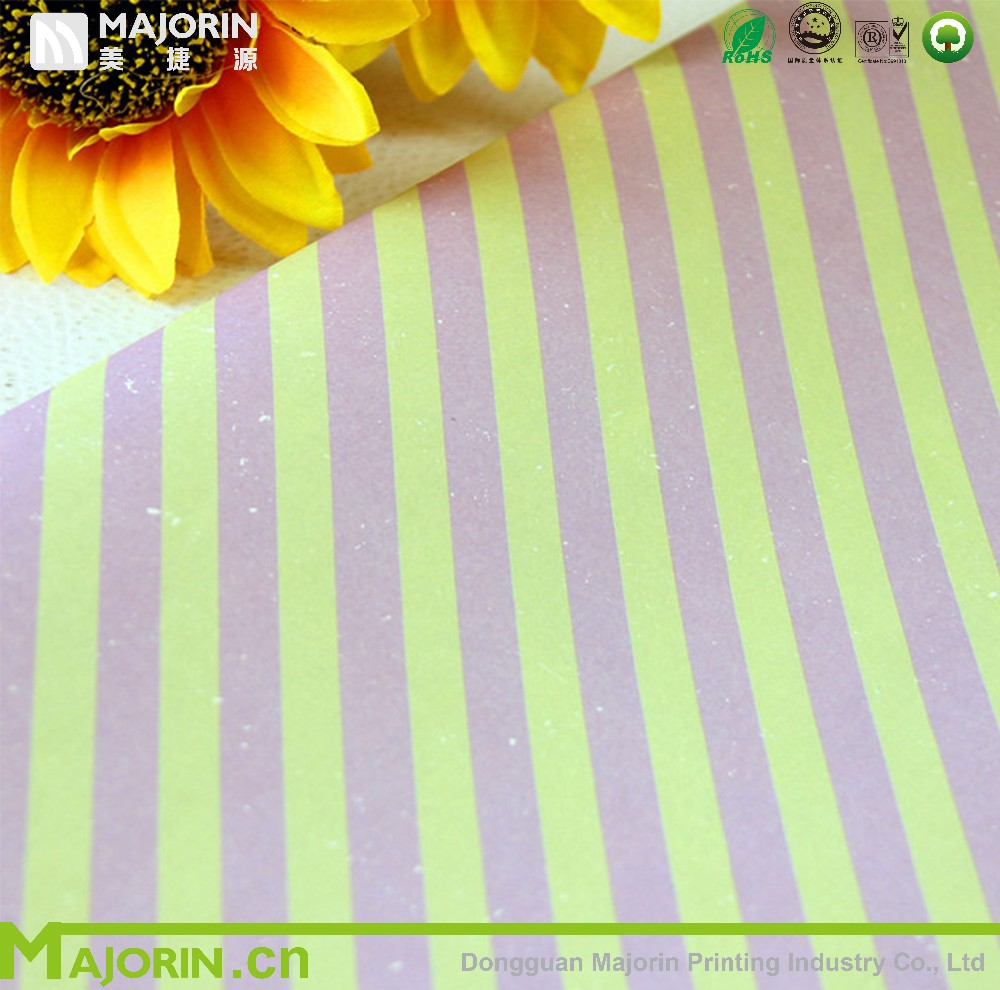 Colorful flower wrapping paper design for packing