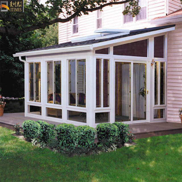 Aluminum patio garden sun room sunroom glass house roof design