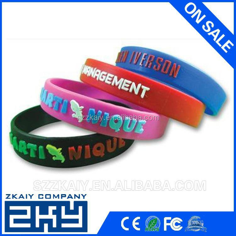 Best selling product segment silicone wristbands with logo