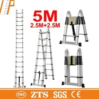 Aluminum Multipurpose 5m Telescopic Ladder With