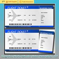 Thermal /bond /art paper card, airline boarding pass, entrance ticket, clothing hang tag