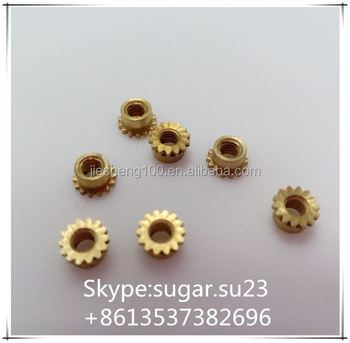brass knurled thumb nut in China factory