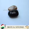 3-5cm lettering stone, stone sculpture,engraved stone with cross