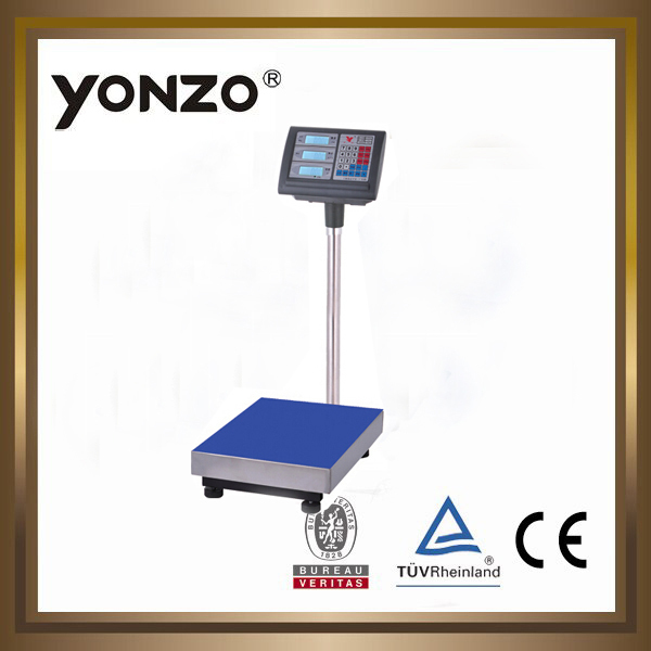 YZ-804 100kg to 500kg electronic digital platform weighing scale level indicator