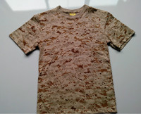 Eco-friendly 100 cotton shirts multi color desert camouflage army t shirt