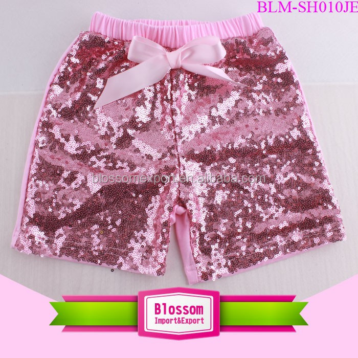 Sparkling Precious Sequin Shorts Wholesale Girls Shiny Kids Boutique Toddler Red Sequin Pants For Baby Girls
