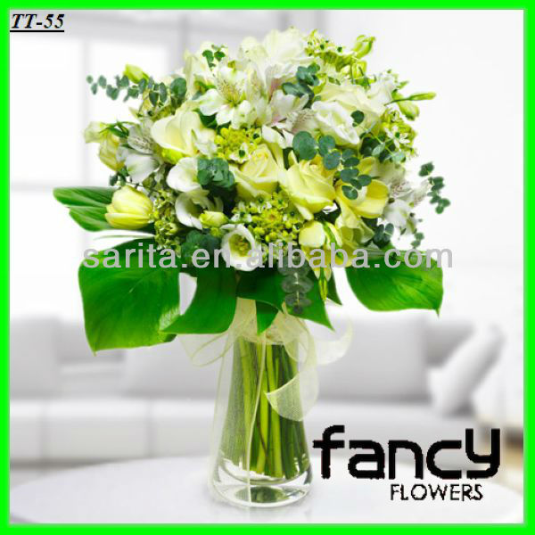 2013 hot sale decorative mixed artificial wedding table flower centerpiece making