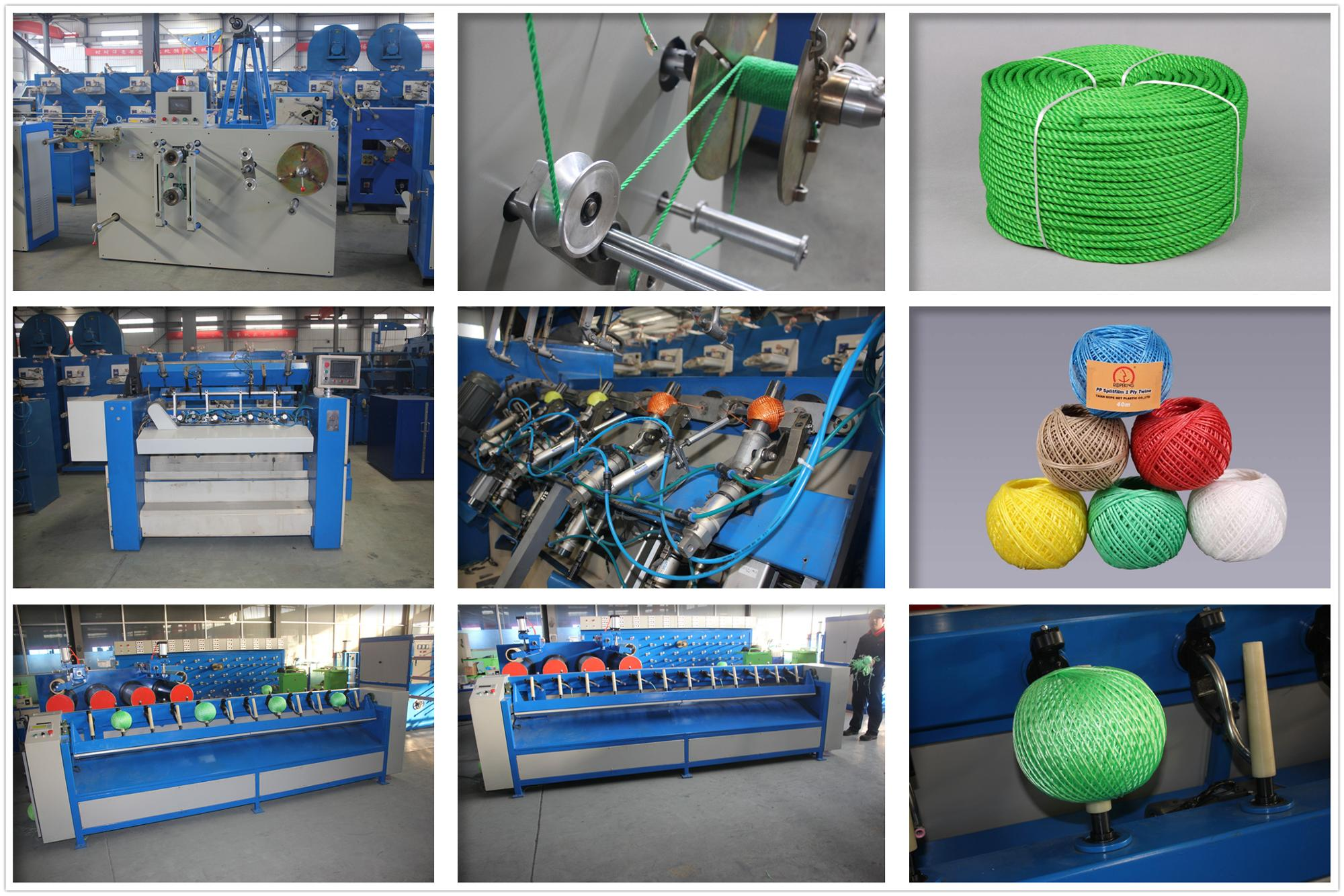 Rope making machine with strand break stop automatically device, rope machine