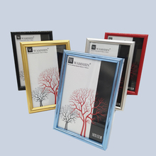 Free standing clear plastic colored picture frame