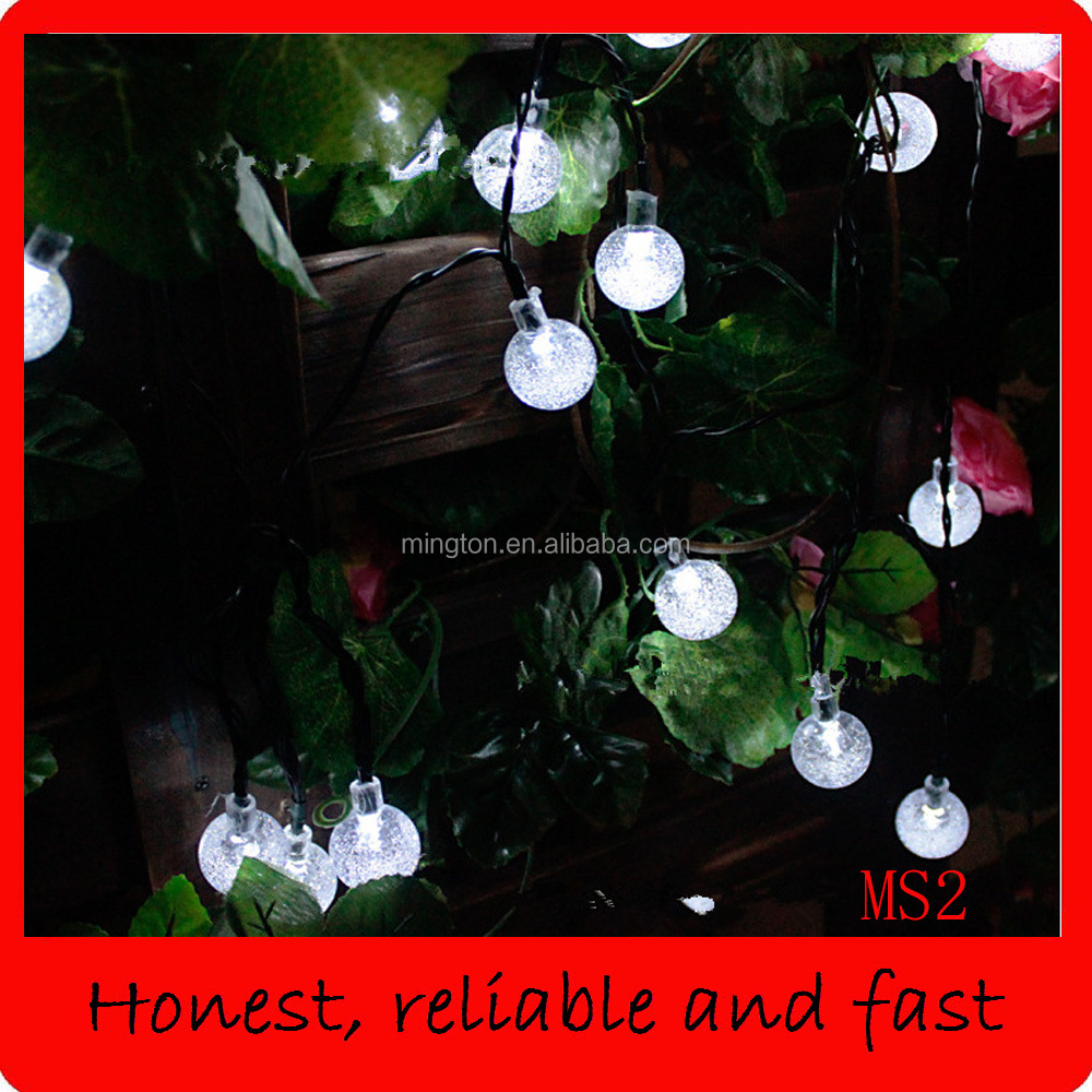 Solar Christmas Lighting Strings Bubble
