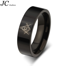 Wholesale Stainless Steel Black Masonic Rings