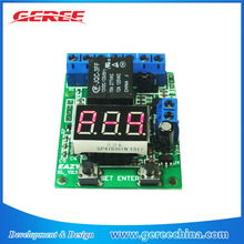 12V DC Multifunction Self-lock Relay PLC Cycle Timer control Switch realy with voltmeter