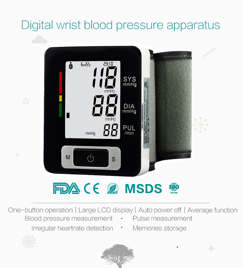 HOT!! wrist watch blood pressure monitor