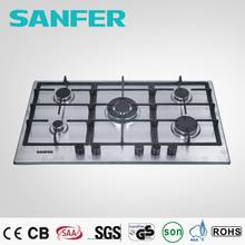 Cooktop 5 burner all brands burner 33 inch stainless steel gas hob