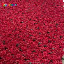 Wedding Flower Backdrop Red Rose Flower Wall For Decoration Wedding