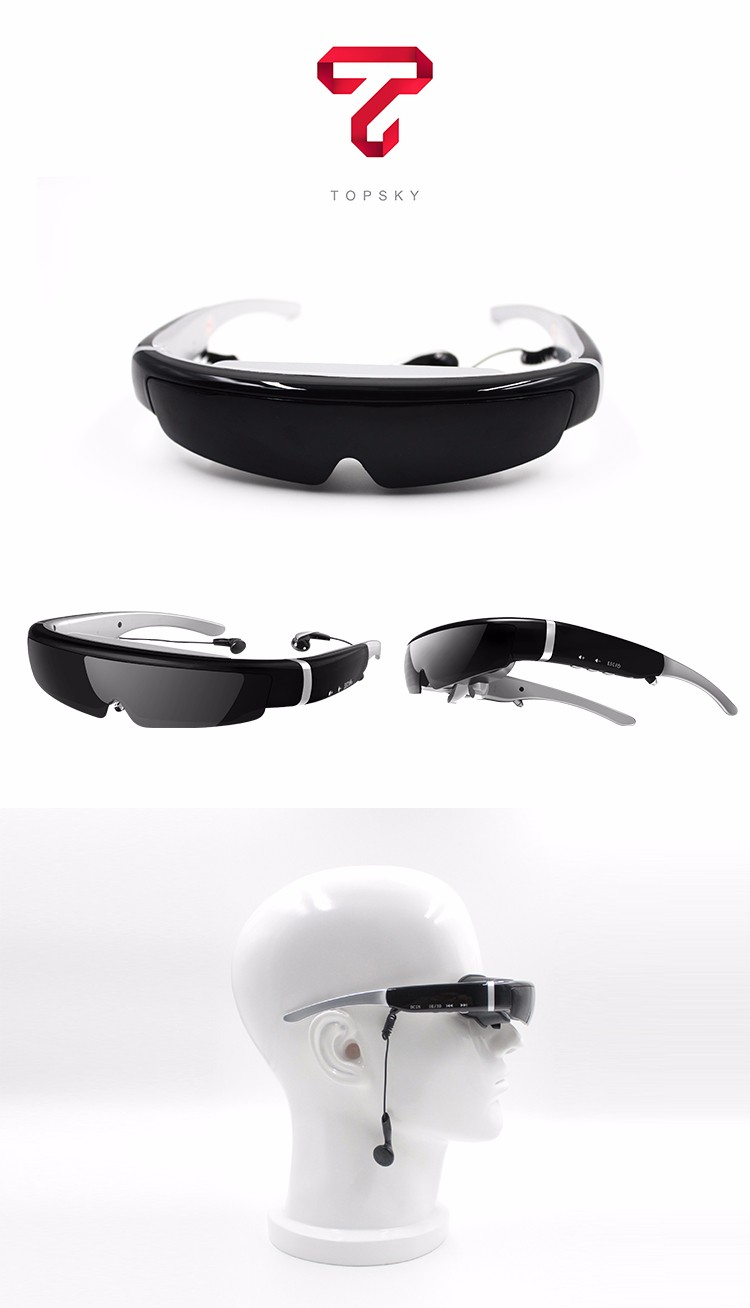 video glasses 98inch 1080p 3D HD augmented reality video glasses IVS-2,AV in