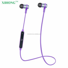 Noise Cancelling Waterproof Wireless Purple Colored Sports & Running V4.1 Bluetooth Earphone