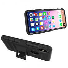 Evergreentech Rugged 3 in 1 Combo Phone Cases for iPhone 6S Belt Clip Holster Stand Armor Case for iPhone x
