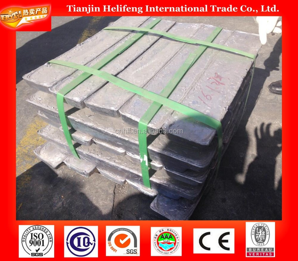 Raw metal high purity lead ingot for sale
