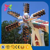 2016 lixin top amusement park game thrilling rides top scan rapid windmill ride for sale